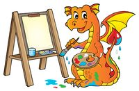 Painting dragon theme image 2