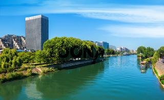 Skyscrapers on Seine
