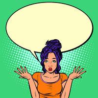 confused woman gesture