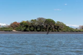 Islands in the Bahia de los Muertos the estuary of the Rio Platanal Panama