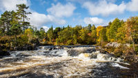 Autumn at the waterfalls on the River Affric
