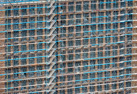 Scaffolding at a building facade
