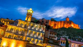 View of the Old Town of Tbilisi