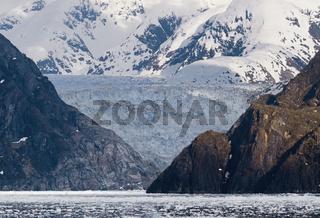 Sawyer Glacier At Tracy Arm Fjord In Alaska