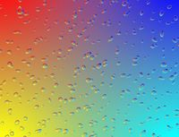 Rainbow multicolor glass with water drops digital effect.