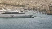 Yachts And Sailboats Moored At The Port Of Msida, Malta