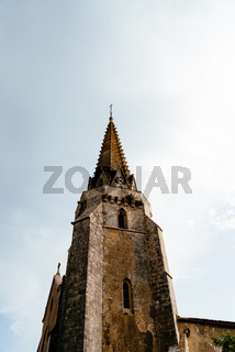 The tower of the medieval church of Sainte-Marie-de-Re