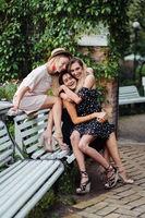 three girls on the bench