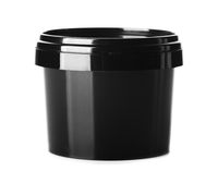 Black packaging clear cosmetic cream pot