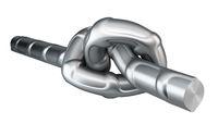 Metal fittings knot