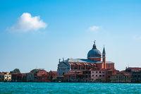 Blick auf die Kirche Il Redentore in Venedig, Italien