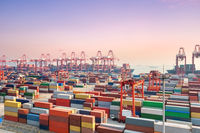container yard and port