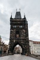 Old Town Bridge Tower in Charles Bridge in Prague