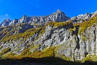 Peak Pointe de Bellegarde, Cirque du Fer a Cheval, Sixt-Fer-a--Cheval, Haute-Savoie,France