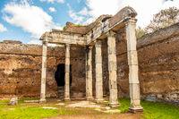 Villa Adriana roman ruins columns - Rome Tivoli - Italy