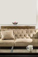 Sofa in luminous interior