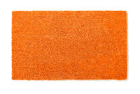 Blank Orange Welcome Mat Isolated on White Background Ready For Your Own Text