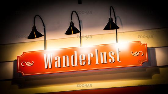 Street Sign to Wanderlust