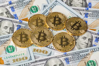 Bitcoins and money - business background