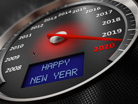 speedometer Happy New Year 2020