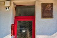 Gedenktafel von Marlene Dietrich an ihrem Geburtshaus in Berlin Schöneberg, Deutschland