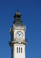 Edificio Del Reloj. Clock tower at the harbour of Valencia.