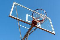 Basketball hoop,low angle view