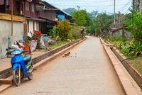 Street in Luang Prabang, Laos