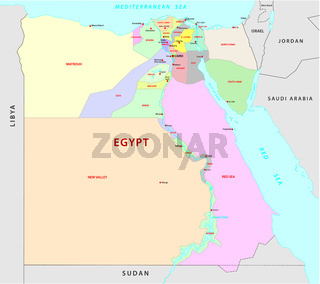 egypt administrative map