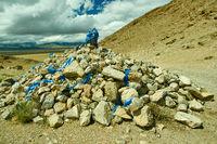Mongolian Ovoo,, Pass in the mainstream Zavkhan Rive