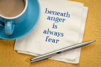 beneath anger is always fear
