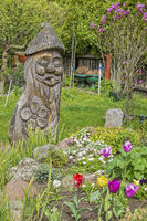 Ornamental Carving In The Garden, Klaipeda, Lithuania