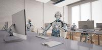 Humanoid Robot Callcenter Ok