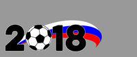 Hintergrund Banner Fußball WM 2018 in Russland