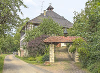 Former administration buiding, Castle,  from historic  Amalien iron ore hut, Bachzimmern