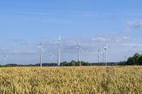 Windkrafträder im Muensterland