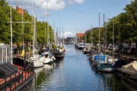 Christianshavn District in Copenhagen, Denmark