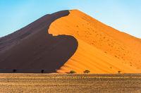 Red dunes in Sossusvlei, Namib-Naukluft National Park, Namibia