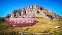 Street Sign Spend Money