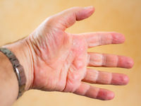 Man's hand with outstretched fingers