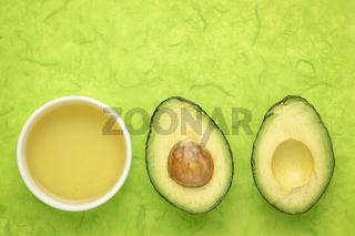 avocado oil and fruit