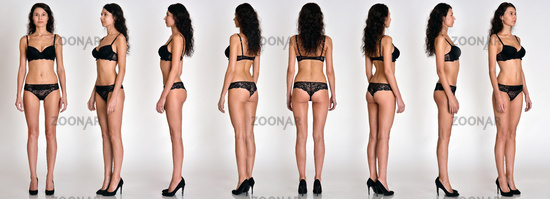 Many woman figures  full lengh from all angles in underwear