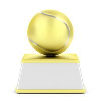 Gold tennis ball trophy