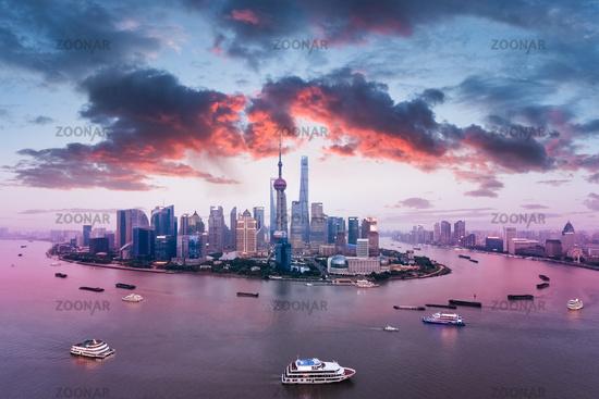 beautiful shanghai skyline