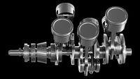 V6 Engine strokes main Shaft