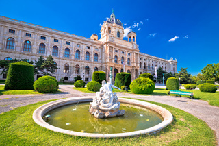 Maria Theresien Platz square in Vienna architecture and nature view