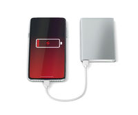 Charging smartphone with a power bank