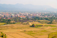 View over Vang Vieng, Laos