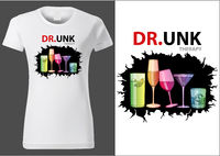 T-shirt Design with Colorful Drink Glasses