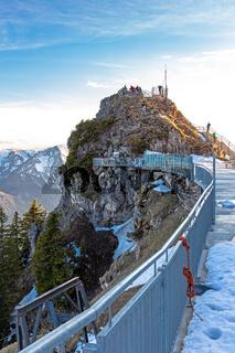 Aussichtsplattform auf dem Gipfel des Wendelstein